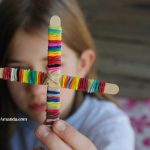 Colored Rubber Band Cross Activity