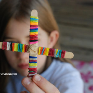 Rainbow Loom Rubber Band Cross for Easter + Conversation Starters for Easter