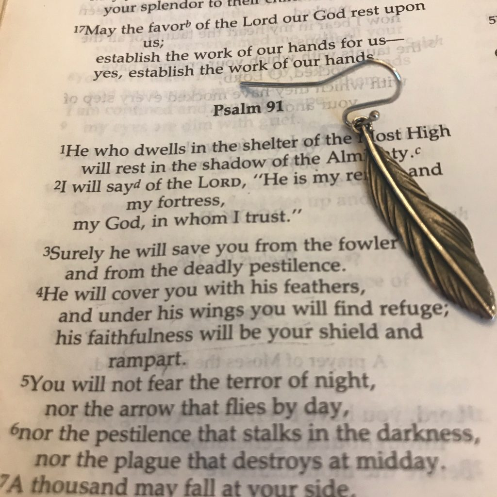 feathers james avery psalm 91_4