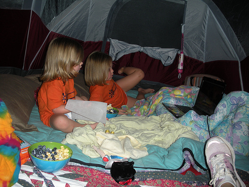 their tent!