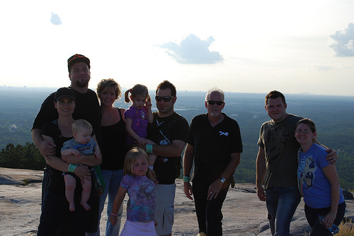 the fam at the top of the mountain