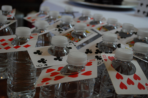 decorate with playing cards