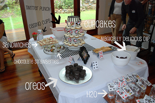 card party theme food