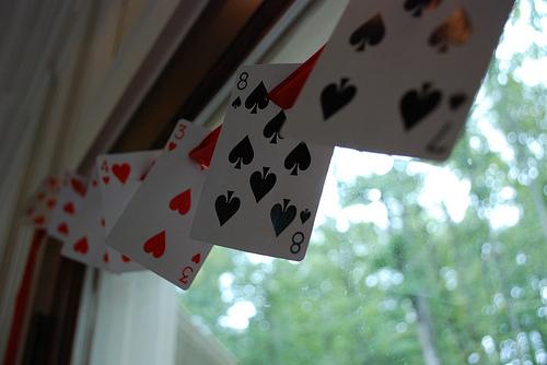 playing card garland