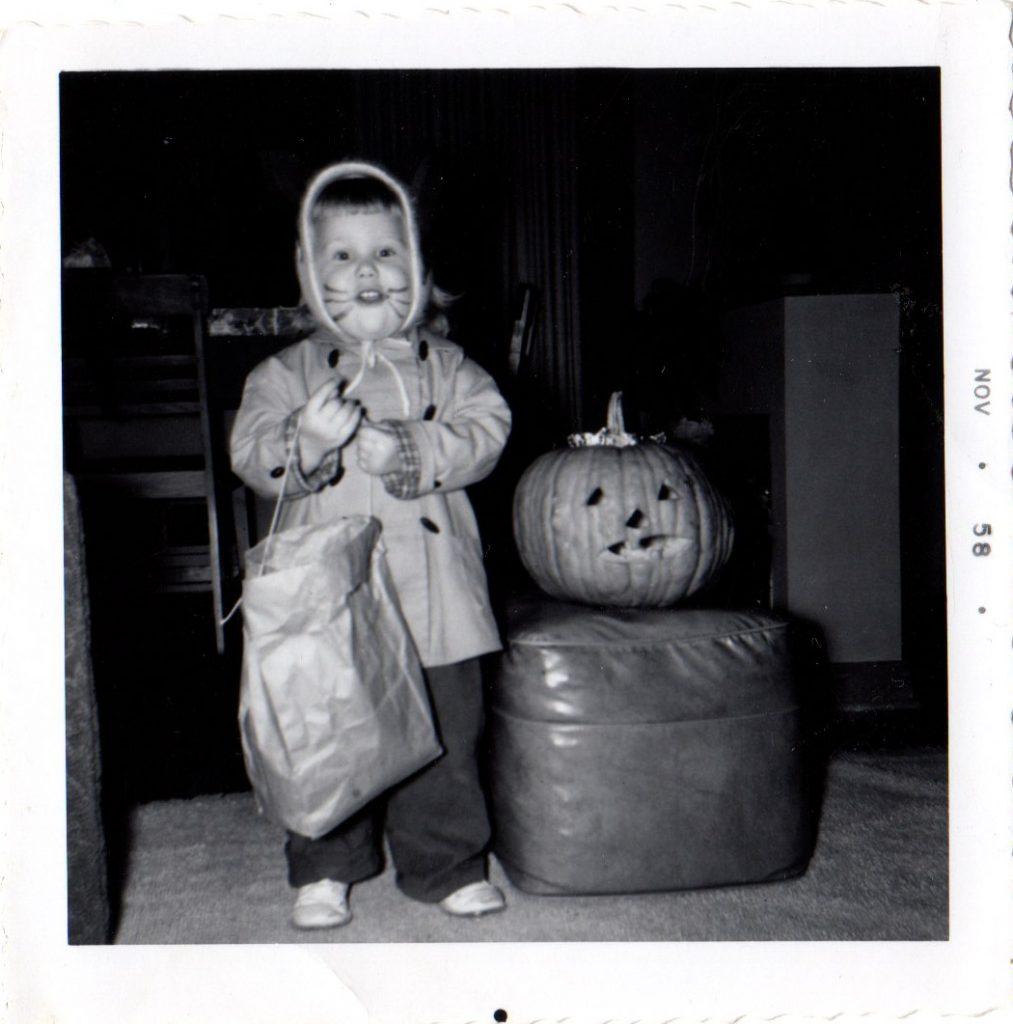 vintage halloween costume cat