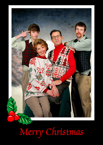 awkward christmas card