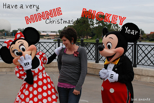 mickey mouse christmas card