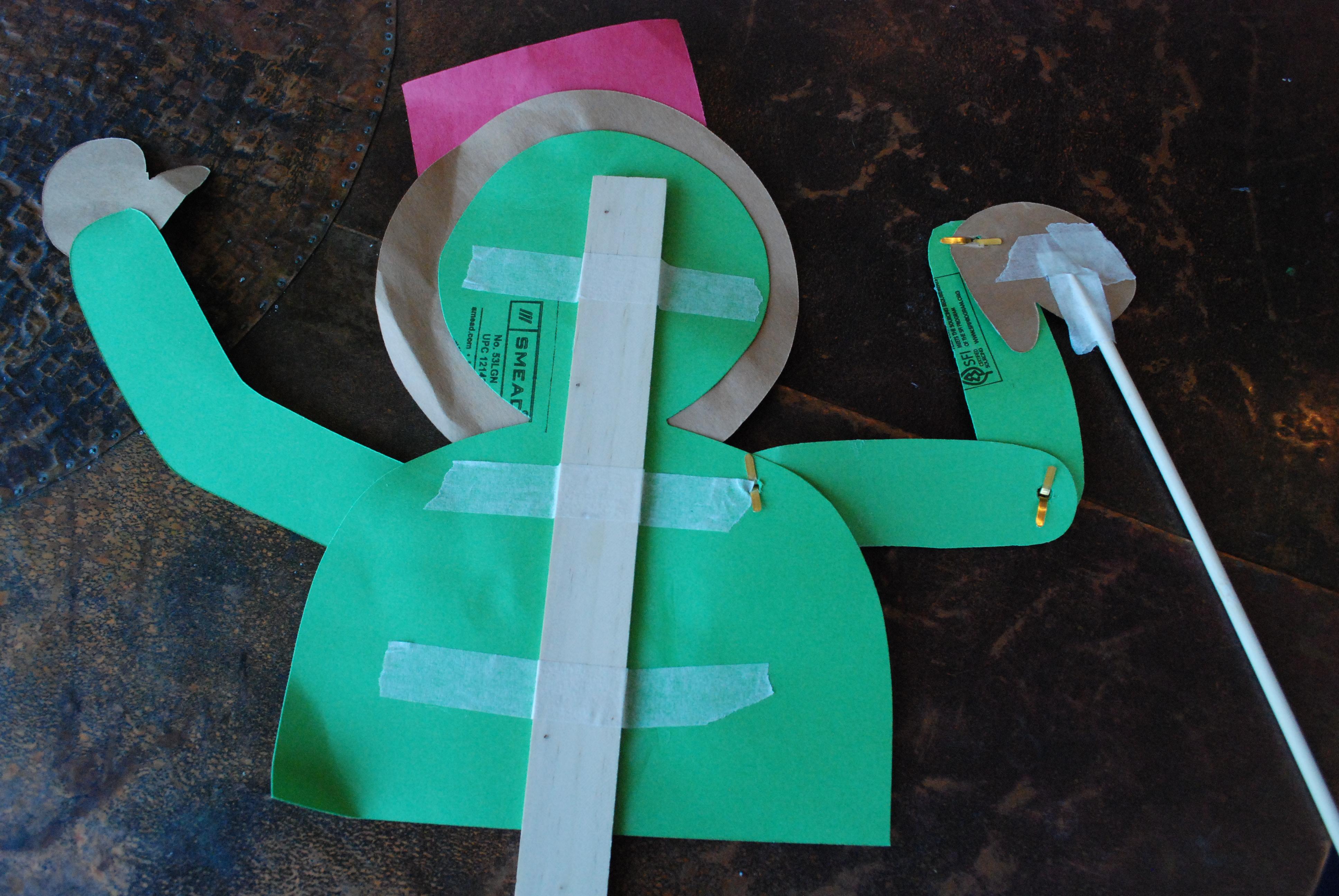 rod stick puppet craft kids