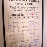 Our new family calendar…