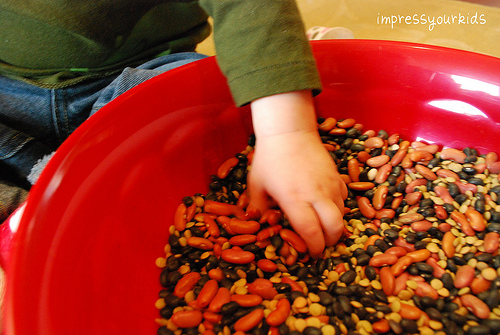 sensory tub beans