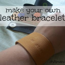 make your own leather bracelet