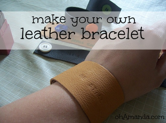 How To Make Your Own Camp Leather Bracelets For Kids