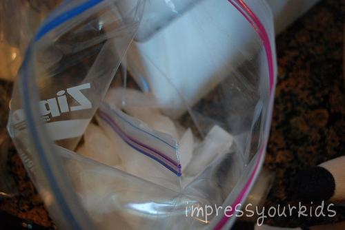 ziploc bag icecream