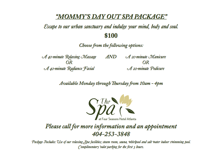 mommy's day out spa