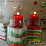 Christmas Candles with Sand Art!