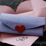 Fold a Heart into an Envelope! {Valentine's Day}