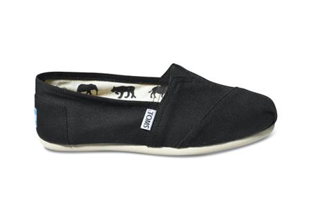 TOMS Shoes Black Women's Canvas Classics