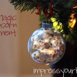 popcorn magic ornament