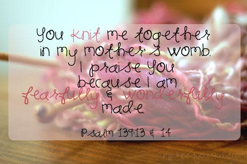 psalm 139:13-14