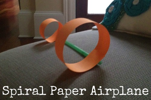 straw and paper airplane