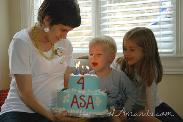 Flying Ace Party cake