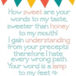 FREE Printable of Psalm 119 for ohAmanda's ebook, Praying God's Word for Your Kids