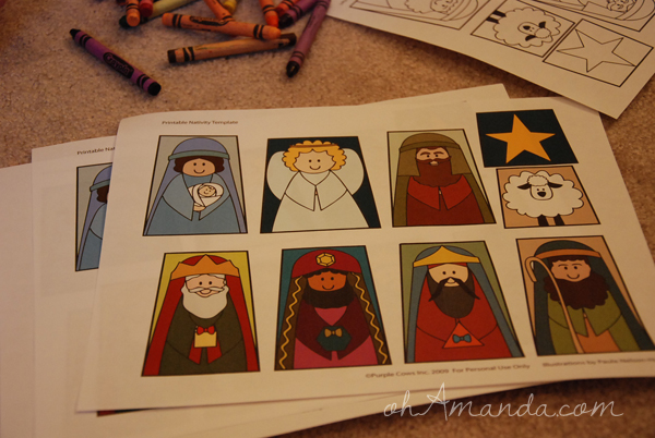 Printable Nativity Scenes for Sponsored Kids
