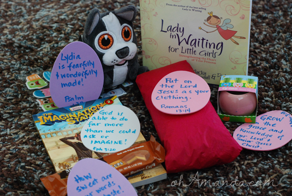 easter basket gifts for girls to help them grow in the Lord