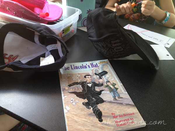 Abe Lincoln's Hat activity for kids