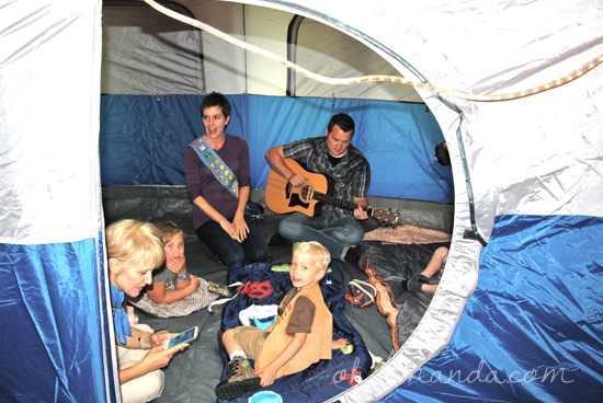Camping Birthday Party Songfest Sing a long