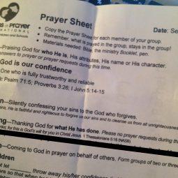 hosting a moms prayer group