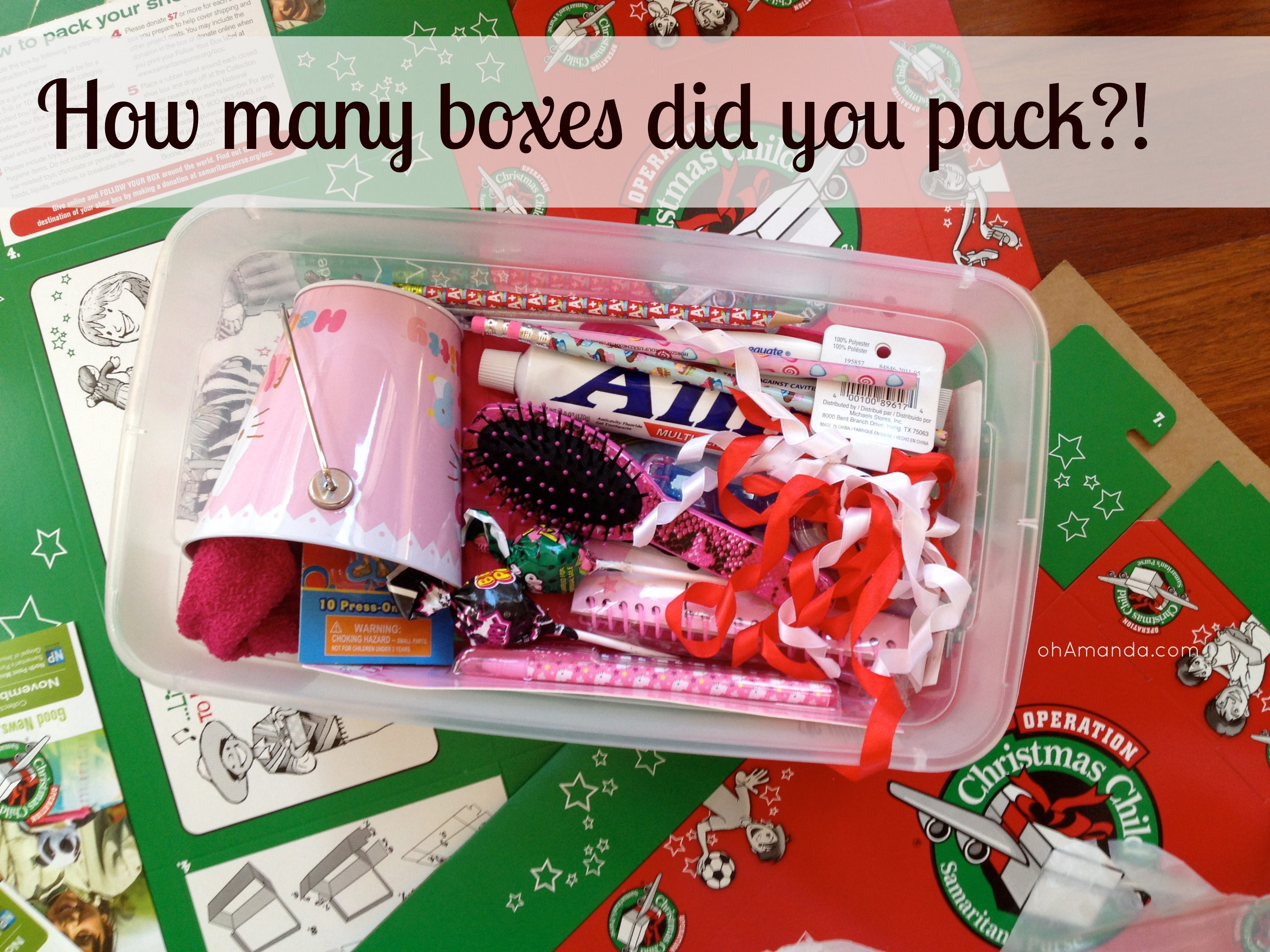 Christmas Child Boxes.Operation Christmas Child Link Up