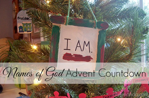 names of god advent countdown