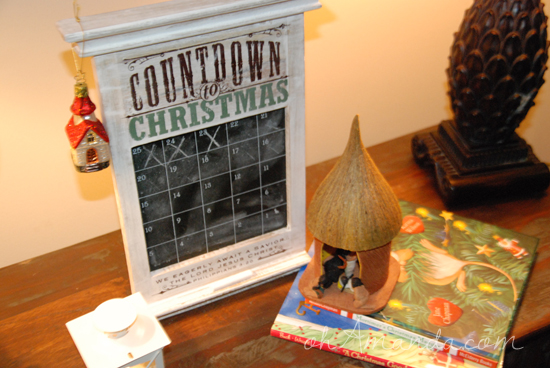 Redeemed Countdown to Christmas Chalkboard Advent Calendar from Dayspring // 50% off this week only at ohAmanda.com