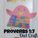 Proverbs 1:7 Owl Memory Craft