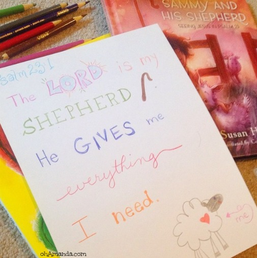 Scripture doodling. Help your kids meditate on God's Word! // ohAmanda.com