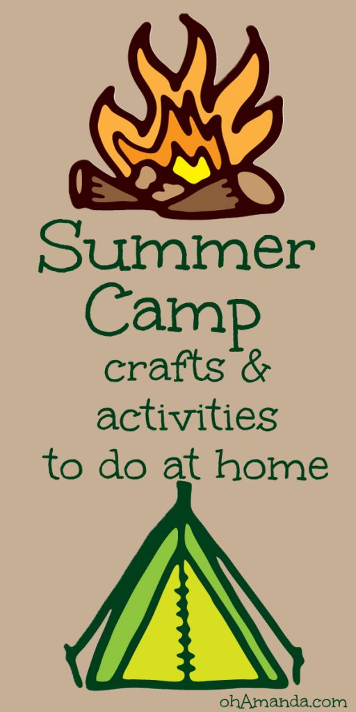 Ice cream in a bag, hobo meals, situpons, God's Eyes and more ! Fun Summer Camp activities for you to do at home. // at ohAmanda.com