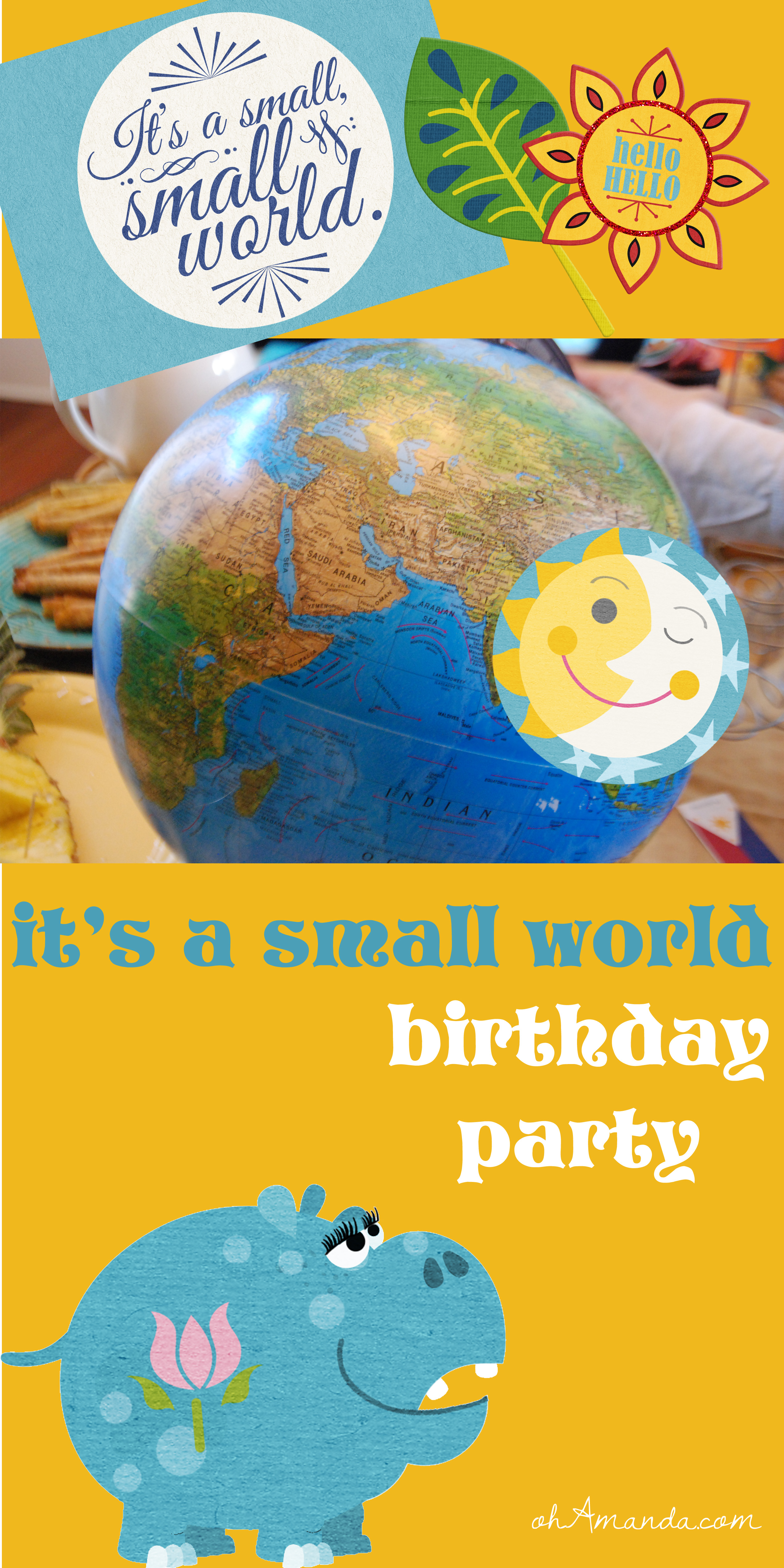 It's a Small World Birthday Party // ohAmanda.com