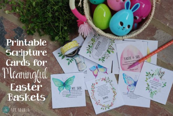 Printable Scripture Cards for Meaningful Easter Baskets
