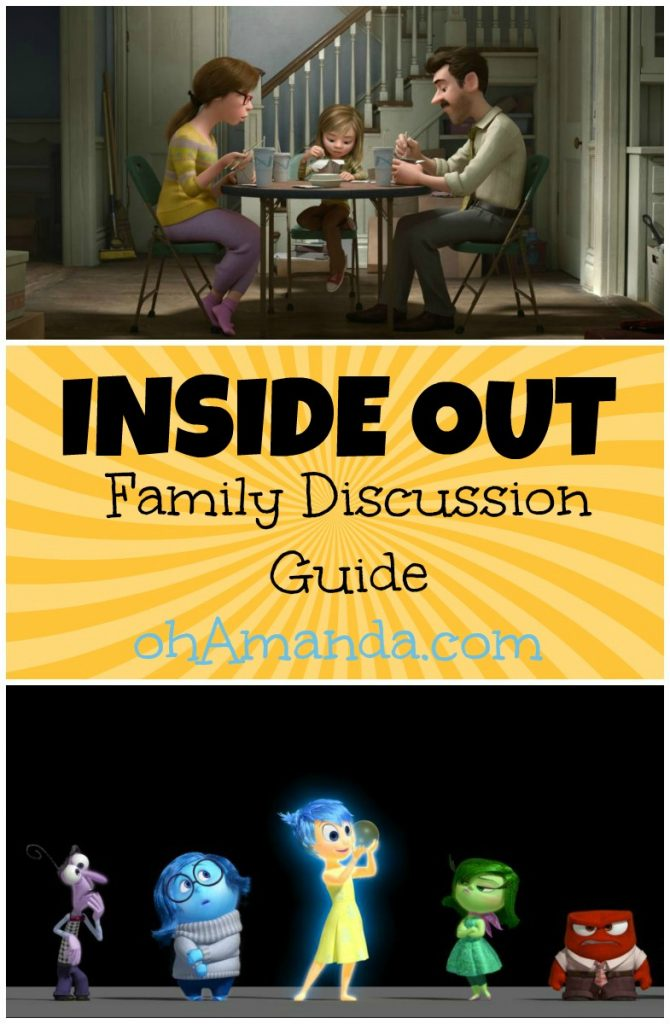 Pixar's Inside Out Family Discussion Guide & Movie Review // ohAmanda.com #familymoviemoms