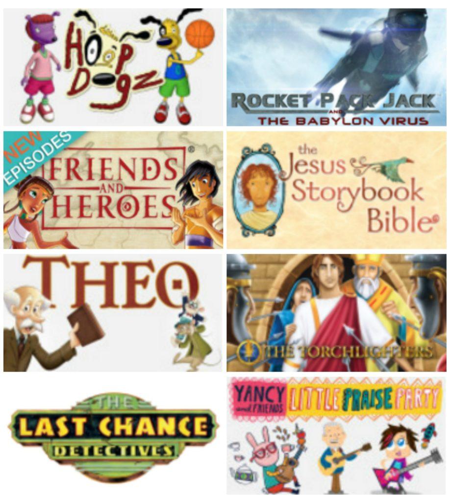 Best Christian Kids TV Shows via jellytelly.com and ohAmanda.com