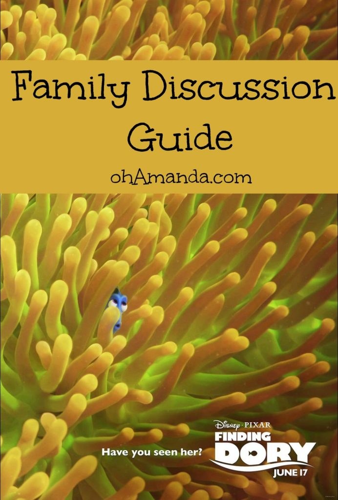 finding dory family discussion guide ohamanda.com