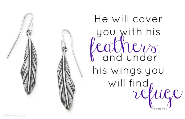 james avery psalm 91_4 feathers